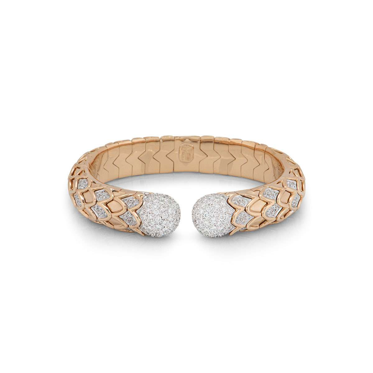 Rose Gold Diamond Cuff Bangle